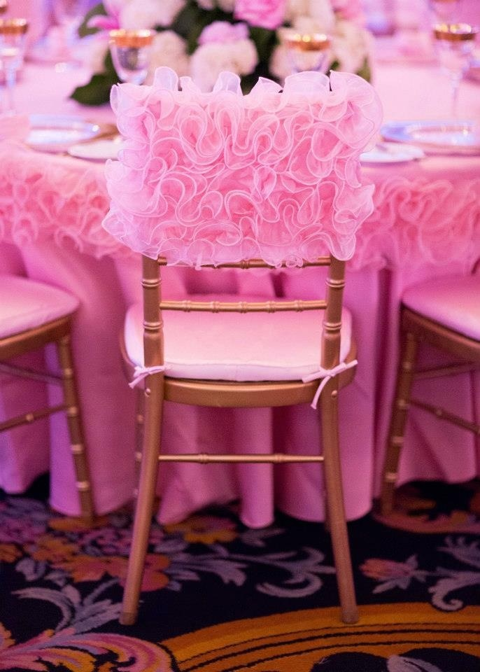 Attractive Pink Rose Chivari Chair Back Cover