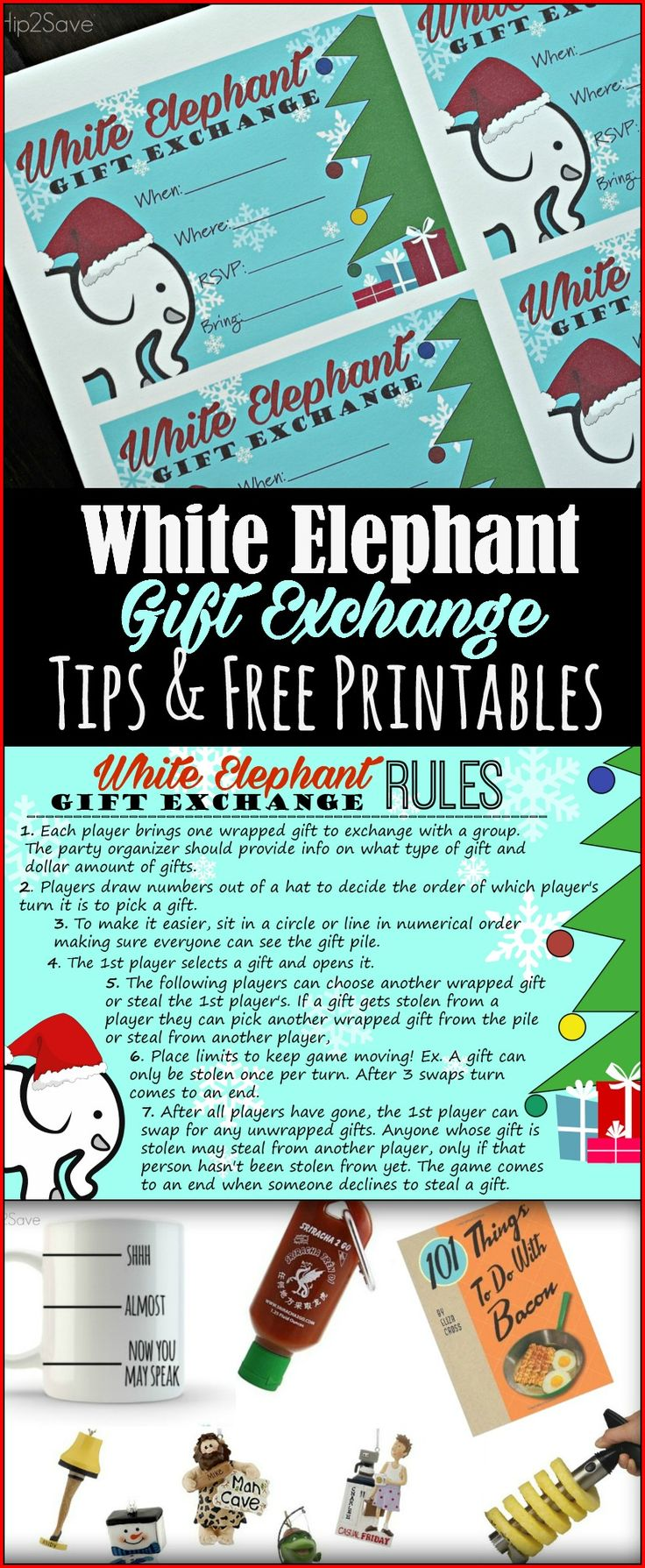 White Elephant Gift Exchange: Tips AND Free Printables (Invitations & Rules) – Hip2Save