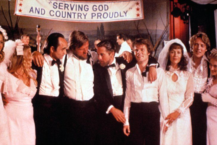 Pin for Later: The Ultimate Movie and TV Weddings Gallery The Deer Hunter In this Vietnam War-era set drama, Steven (John Savage) and Angela (Rutanya Alda) wed in their small Pennsylvania mining town.