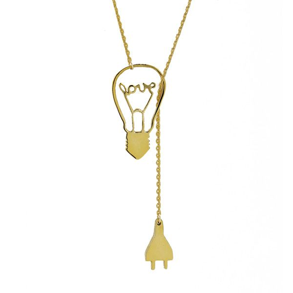 Electric love long necklace