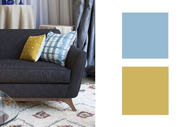 Goldenrod + Wedgewood - In a stately Gustavian castle or a mod-inflected apartment, this twist on classic blue and yellow is sophisticated yet unpretentious. Plus, the muted tones always play well with others.