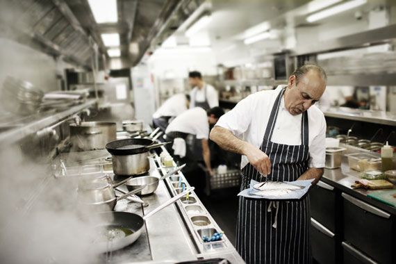 Portait of Chef Gennaro Contaldo by Stefan Johnson