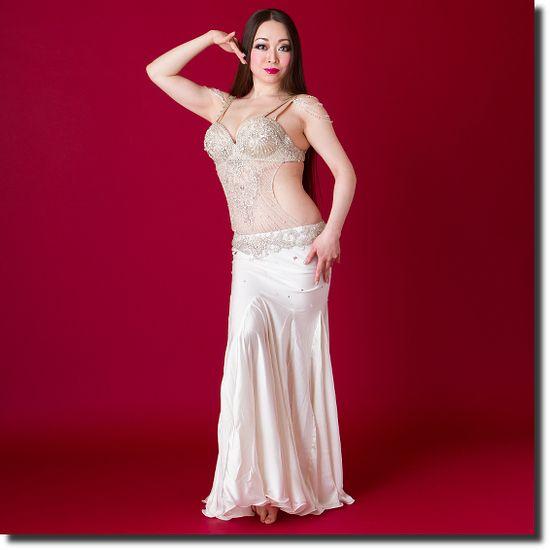 【Fig限定】Magic ベリーダンス衣装 一体型 / White(20ma1502-18) | ベリーダンス衣装【Magic】 | | ベリーダンス衣装・通販 Fig