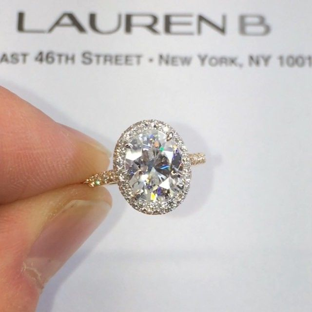 """Press ▶️ to watch this unique"""" double-edge"""" halo design with an oval center and…"""