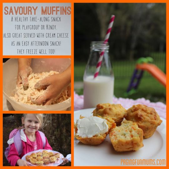 Healthy Savoury Muffins - perfect for school lunches or a shared morning tea at playgroup.