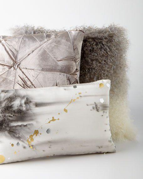 Ombre Mongolian Fur Pillow Ideas Bergdorf Goodman And