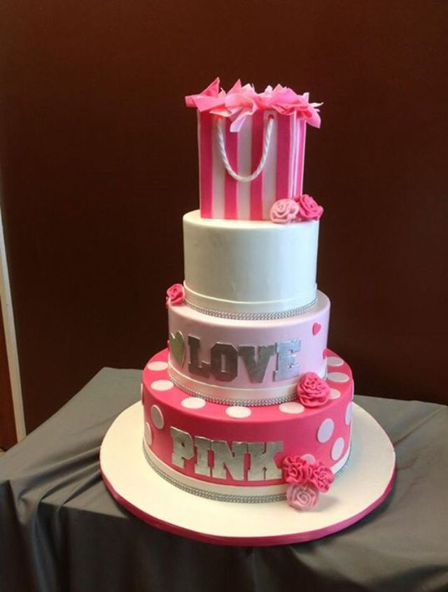 Victoria secrets birthday cake Made by Delicity Cakes