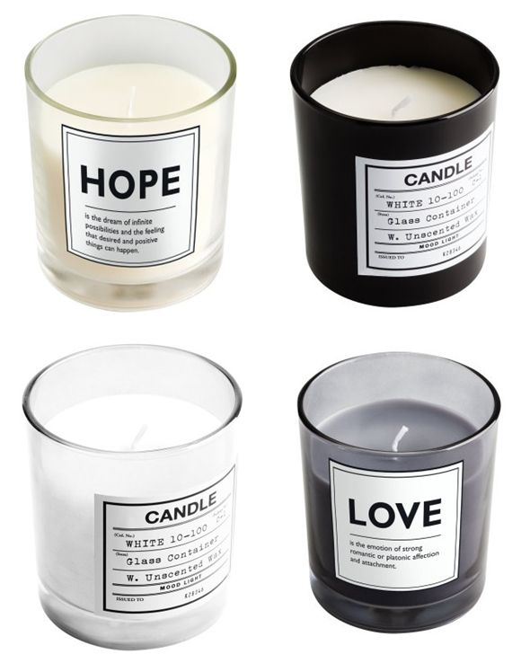 Redo ordinary candles with personal messages.