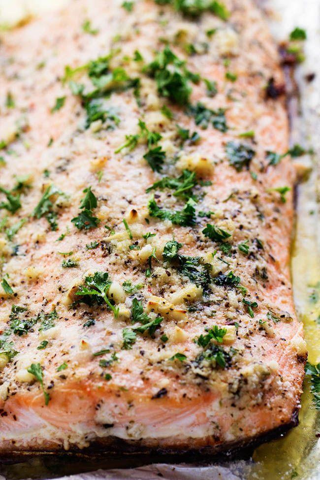 Baked Parmesan Garlic Herb Salmon in foil | The Recipe Critic | Bloglovin'