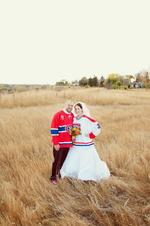 Dedicated fans on their wedding day!