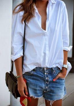 short été parfait chemise blanche boyfriend shirt look été 2015