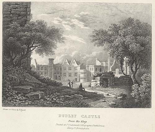Dudley Castle. From the Keep mid 19th century