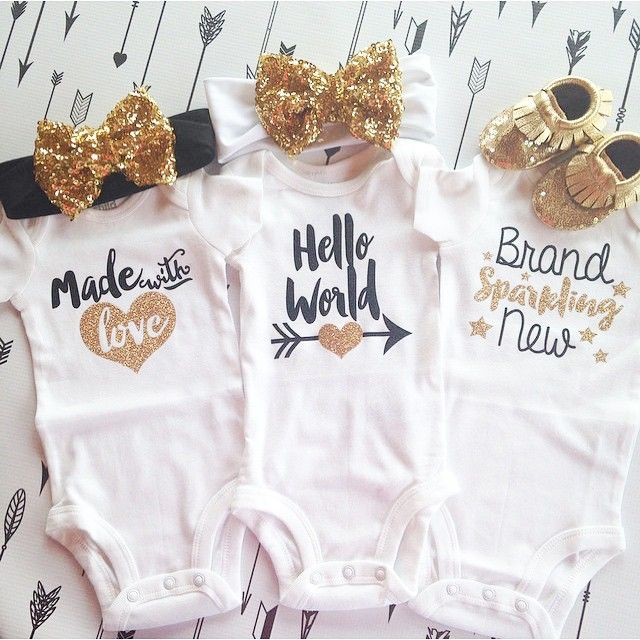 How perfect are these @purplepossom_kids_clothes onesies and @goldandarrows bow headbands? And then go so well with our sequins moccs!  #stitchesandsoles
