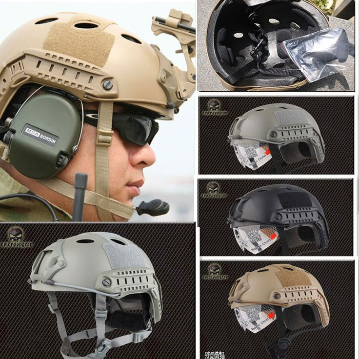 Promotion: Emerson Navy Seal Military Fast Helmet with Protective Goggle Fast Base Jump Helmet BJ PJ Tactical Helmet #Affiliate