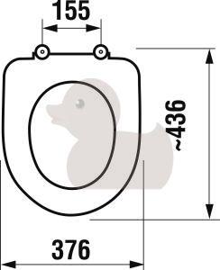WC sedadlo Jika Deep Duroplast