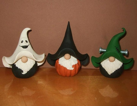 Spookify TrioSet of 3Decorative Polymer Clay by jessnryder on Etsy, $48.00