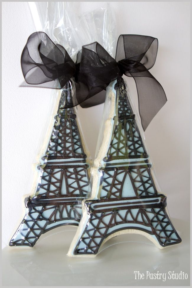 Eiffel Tower Cookie Favors   by The Pastry Studio
