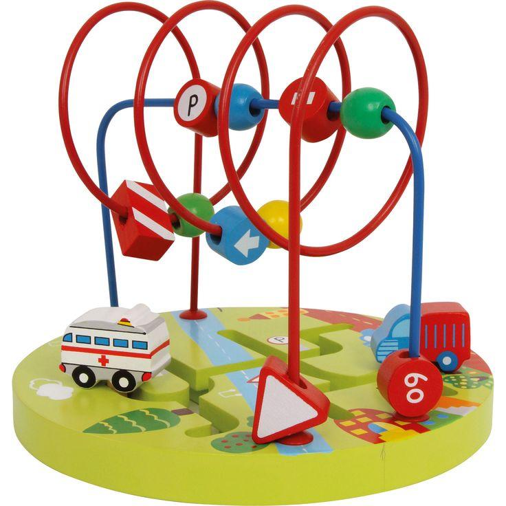Jucăriile din lemn sunt preferatele copiilor! Baza frumos colorată ce conține mașini drăguțe este prevazută cu bucle de metal și elemente viu colorate din lemn. Conduse de mâinile celor mici cele 2 vehicule parcurg sute de kilometrii, iar elementele de lemn de pe buclele de metal alergă dintr-o parte în alta.  #woodentoys #jucariieducative #kidsplay #jucariidinlemn #traffic #jucariionline