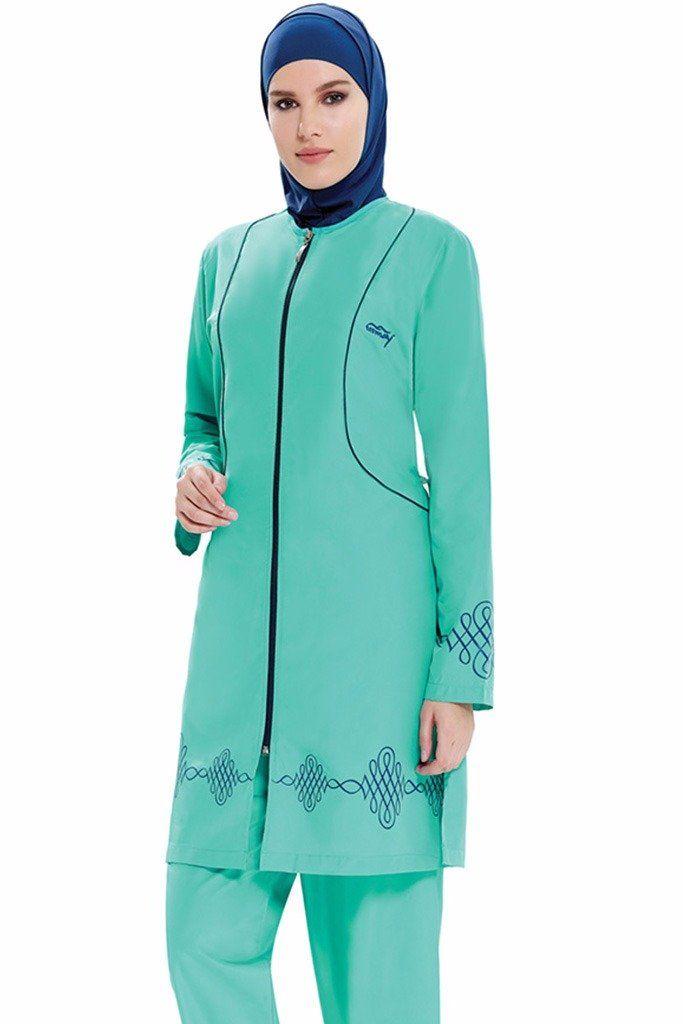 Swimsuit from Hijablooms   Code : 0086  Tesmay  Fabric Info: 20% Lycra, 80% Polyamide  #abiye #abiyeelbise #dantelelbise #abaya #jilbab #muslimahwear #muslimah #muslim #hijabers #hijabfashion #swimsuit   https://hijablooms.ca/collections/swimsuits/products/swimsuets-3?utm_content=bufferecabe&utm_medium=social&utm_source=pinterest.com&utm_campaign=buffer
