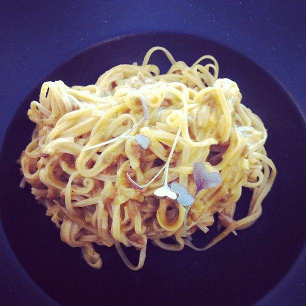 """""""Spaghettis de espelta con boloñesa macrobiotica! @shaclinic"""""""
