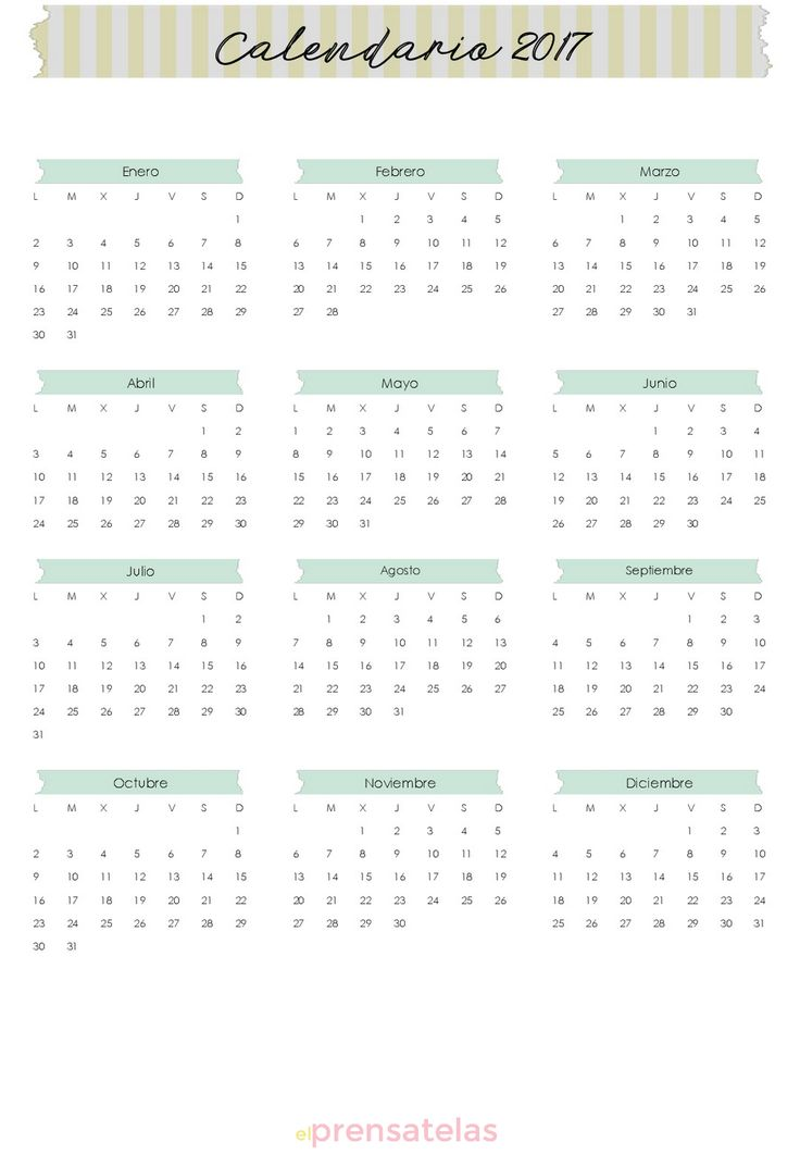 Agenda Septiembre - Diciembre 2017 Gratis