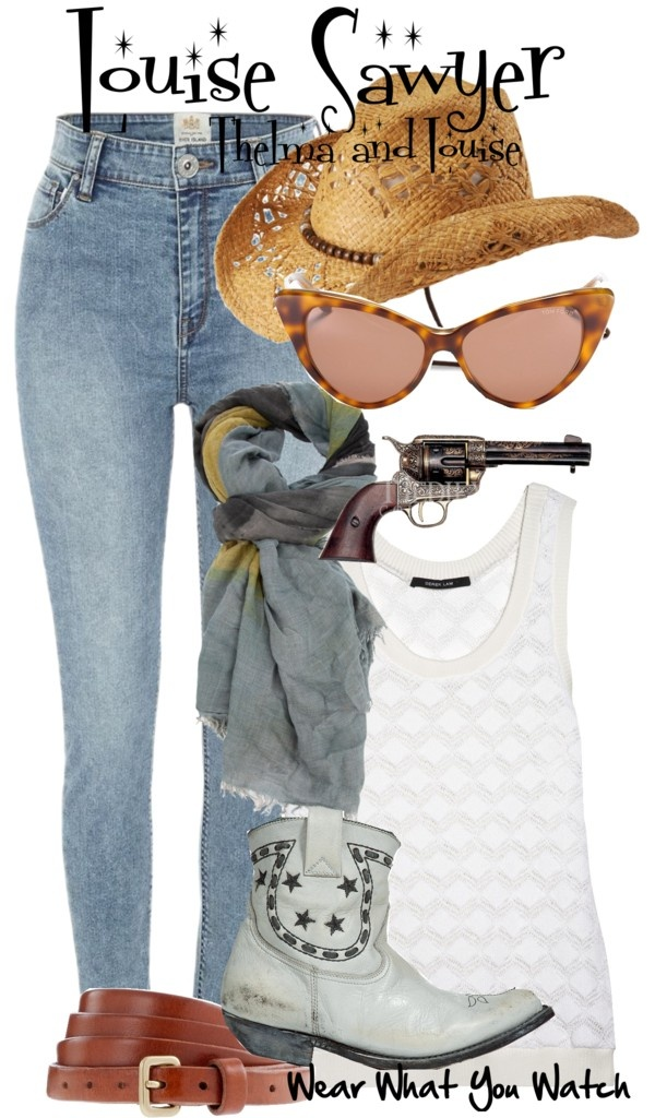 Inspired by Susan Sarandon as Louise Sawyer in 1991's Thelma and Louise.