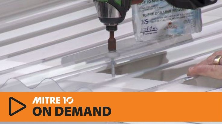 How to Install Clear PVC Roofing   Mitre 10 Easy As