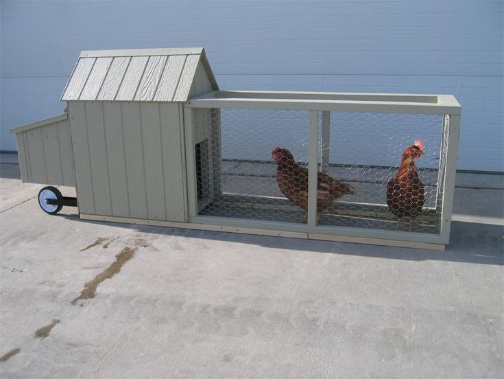 Amish Wood Corn Row Urban Chicken Coop | Amish Made Chicken Coops 15040
