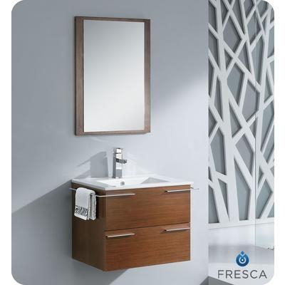 Fresca   Cielo 24 Inch Wenge Brown Modern Bathroom Vanity With Mirror   Home Depot Canada18.5 deep