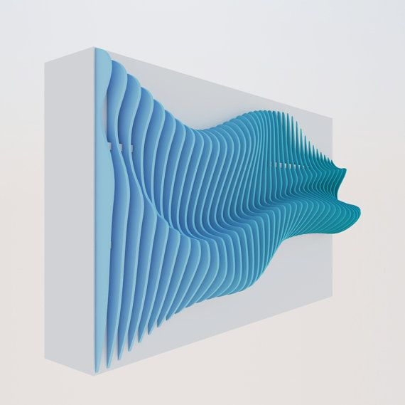 Parametric wall wave by Pmetric on Etsy