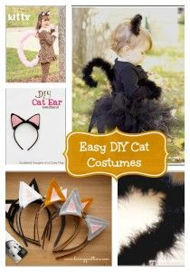 Great round up of DIY cat ears, tails and cat costumes from www.crayonsandcollars.com. Check it out for a costume design idea!