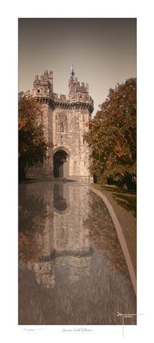 Lancaster Castle uk Reflection by Joseph Tamassy
