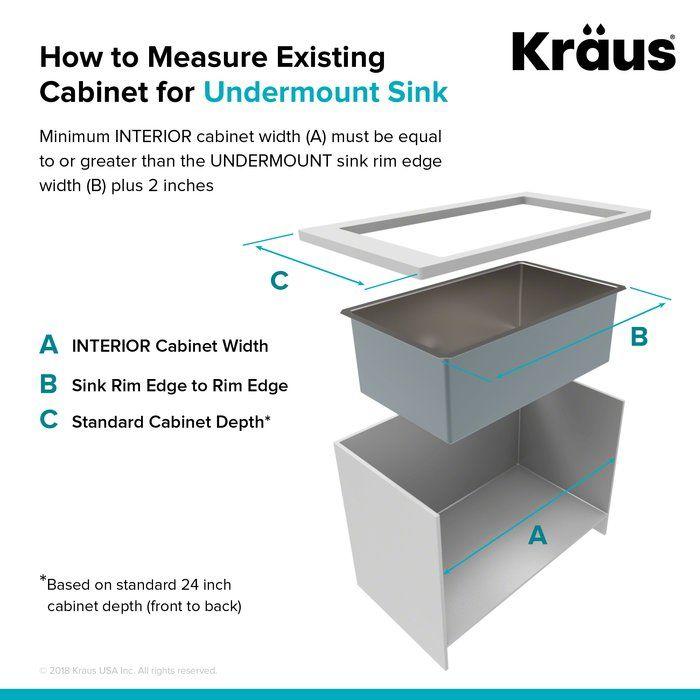 Standart Pro 33 L X 19 W Double Basin Undermount Kitchen Sink With Basket Strainer Sink Home Improvement Undermount Sink