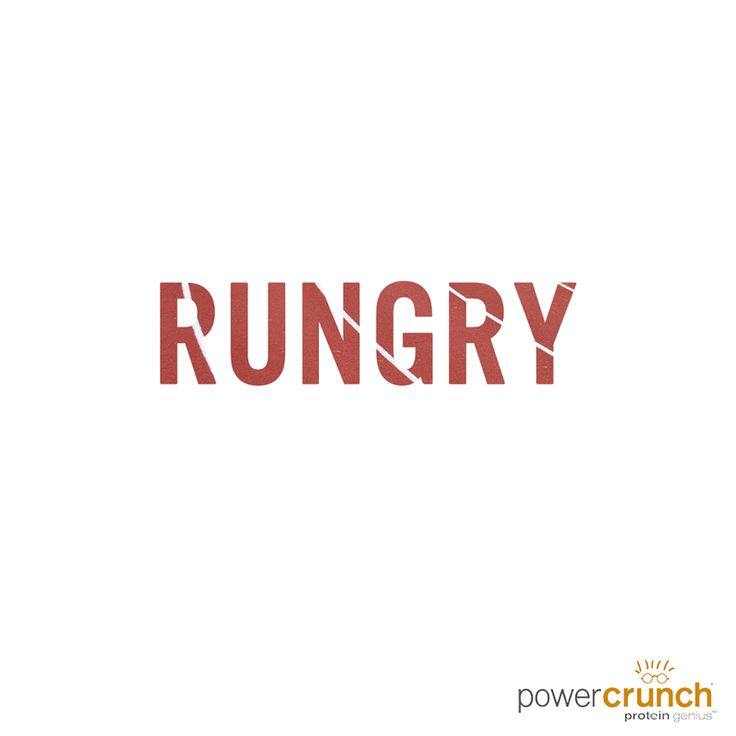 Hungry after a run? Power Crunch protein bars are the perfect post workout snack.