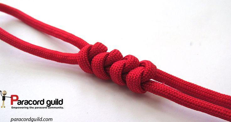2 strand wall knot tutorial.