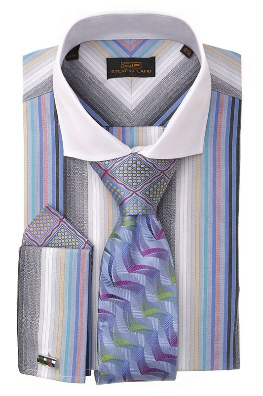 Steven Land Dress Shirts DS1249   Blue $69 #StevenLand #FallCollection2014  Fashion Dress shirts 100% cotton dress shirts classic fit In stock and ready to ship