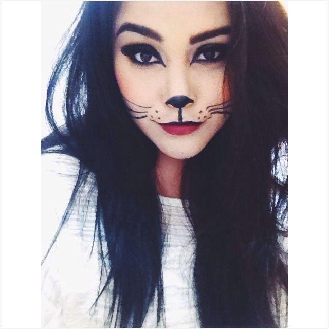 44 Pretty Halloween Makeup Ideas for Women Pintacaritas - cat halloween makeup ideas