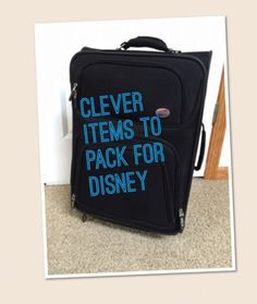 Unique items to include on your disney packing list