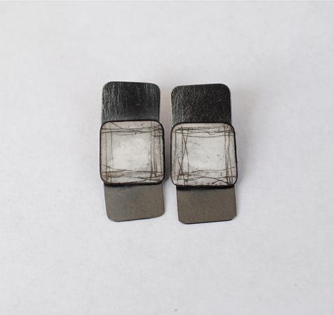 Slate Earrings 1 ¼ x ½""
