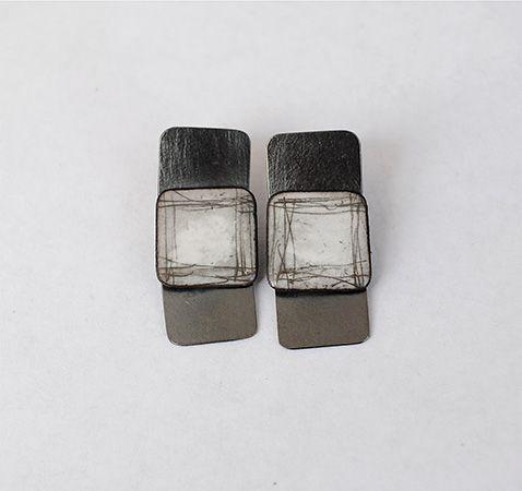 """Slate Earrings 1 ¼ x ½"""""""