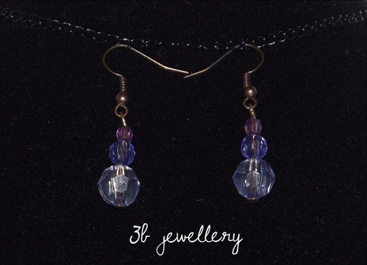 #simple #violet #earrings #3bjewellery #wirewrapping #gettingBetter