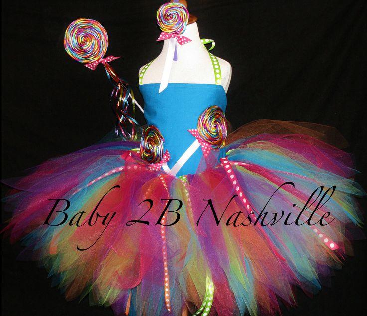 Girls Candyland Lollipop Costume Set. $85.00, via Etsy.