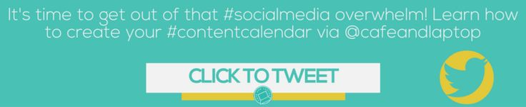 Learn How to Create and Use A Social Media Content Calendar — Café and Laptop