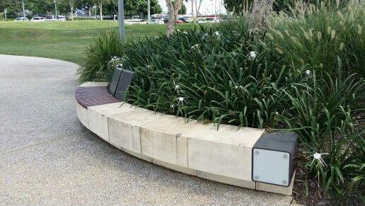 Northshore Hamilton, Brisbane. Seating design