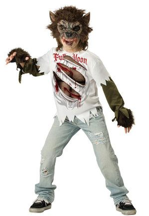 Kids Full Moon Werewolf Costume