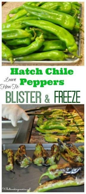 Hatch Chile Peppers - Learn How To Blister & Freeze…