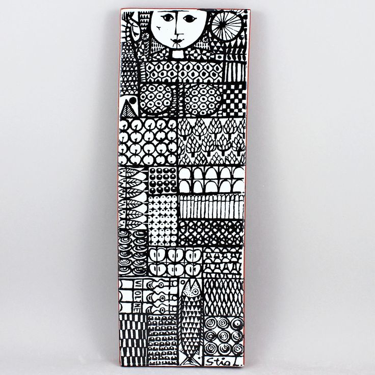 Stig Lindberg (1960s) Fascinating Faience Wall Plaque
