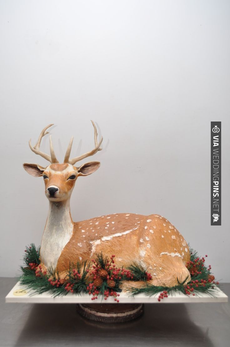 Sylvia Weinstock Deer Cake. How great is this! | CHECK OUT MORE IDEAS AT WEDDINGPINS.NET | #weddingcakes