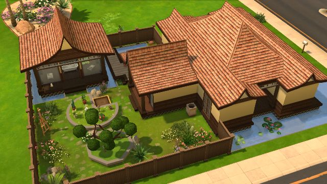 Japanese House And Garden Shofuso Minecraft Japanese House Japanese House Sims House Plans