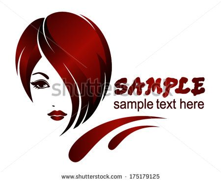 Banner Template For Beauty Salon Hair Styles Vector Logo Design